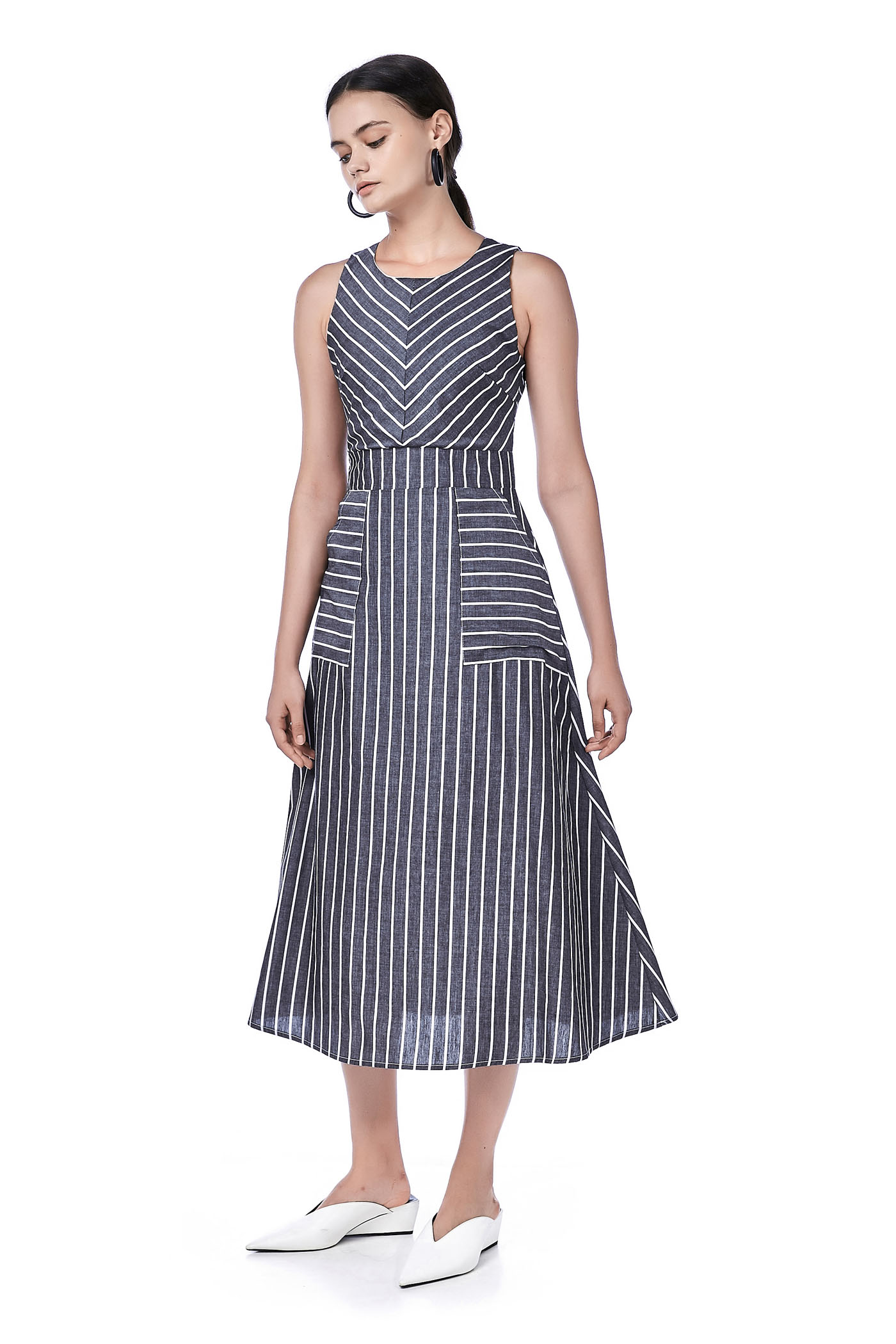 Helya Mix-stripe Dress