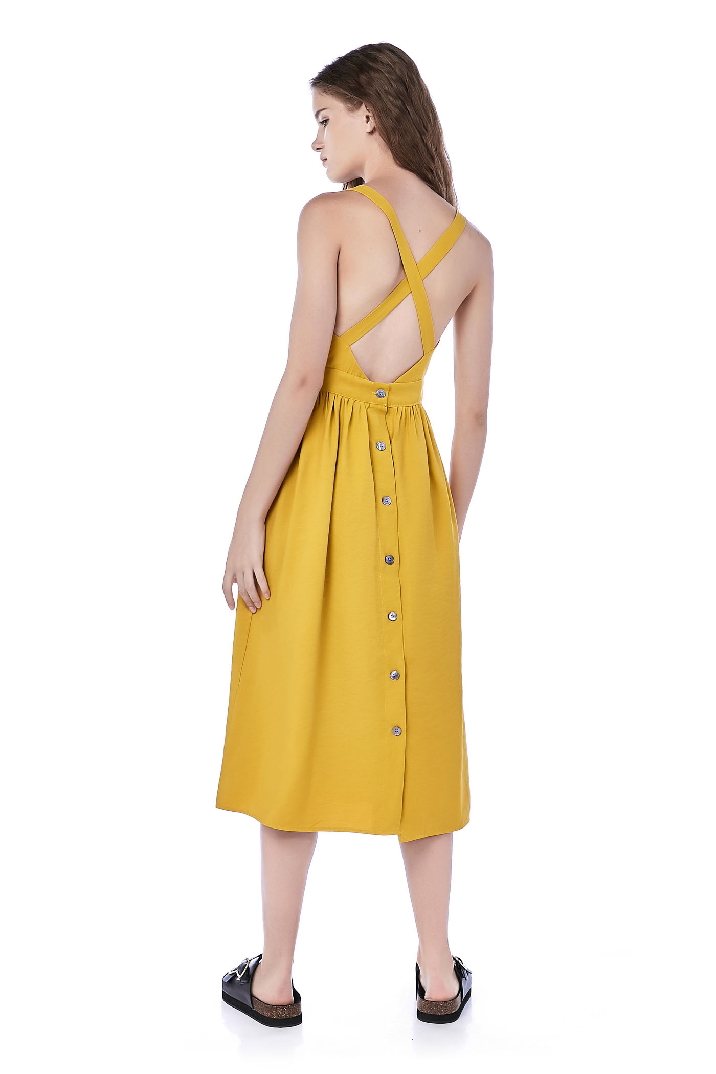 Kyndall Cross-Back Midi Dress