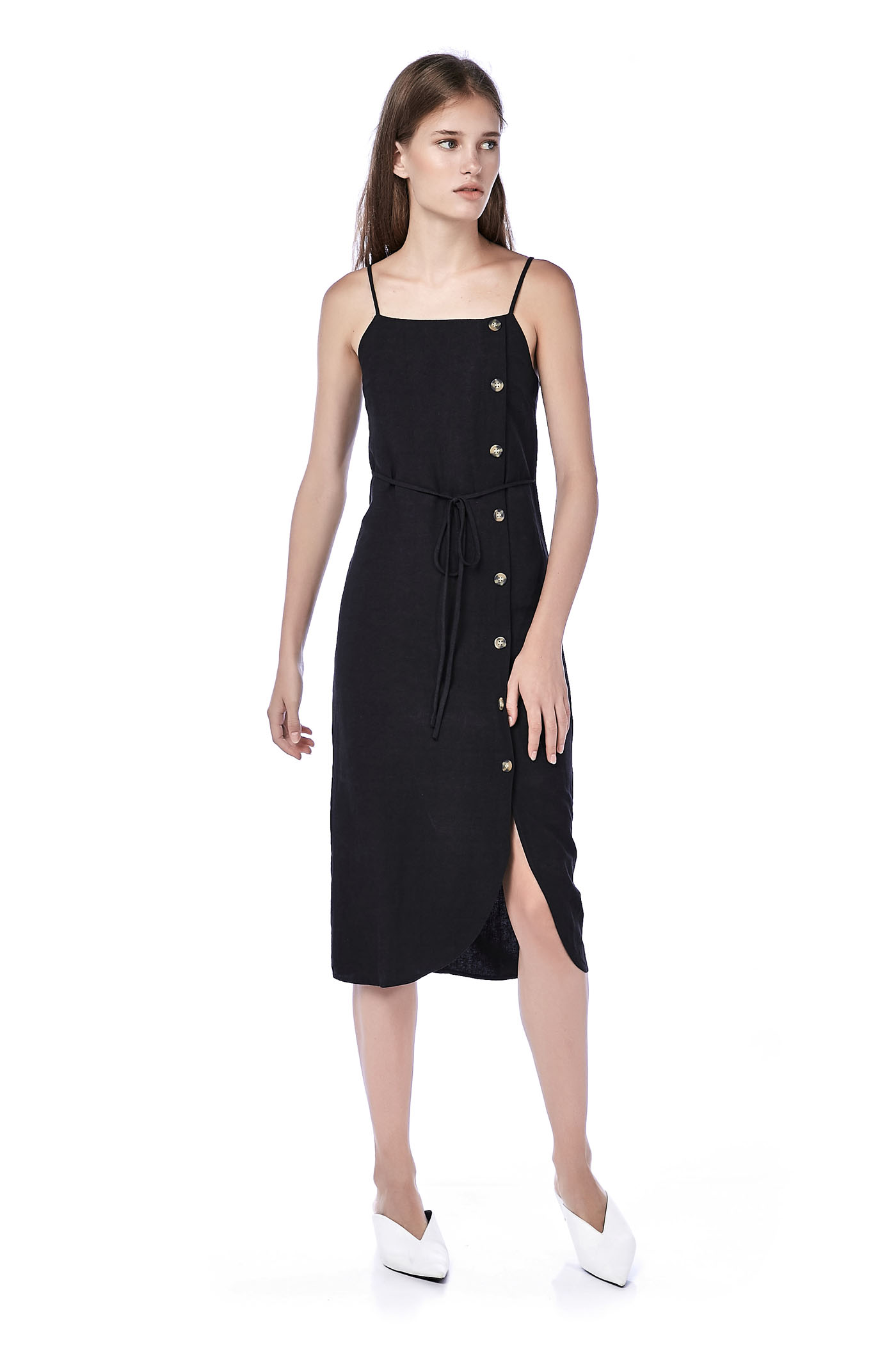 Deryn Bib Midi Dress
