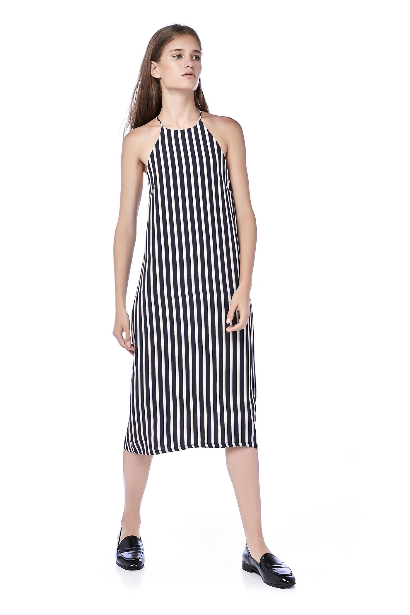 Siano Racer-Neck Midi Dress