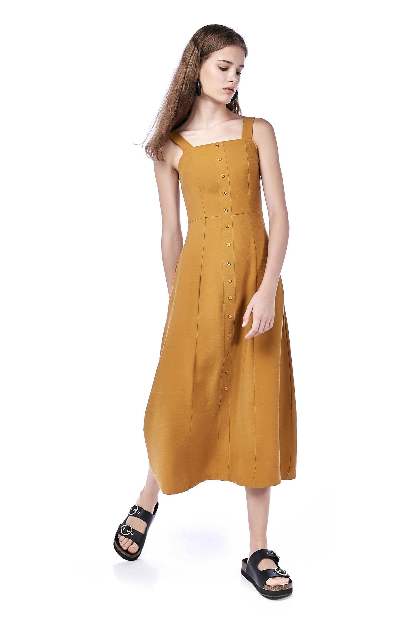 Chessa Bib Maxi Dress