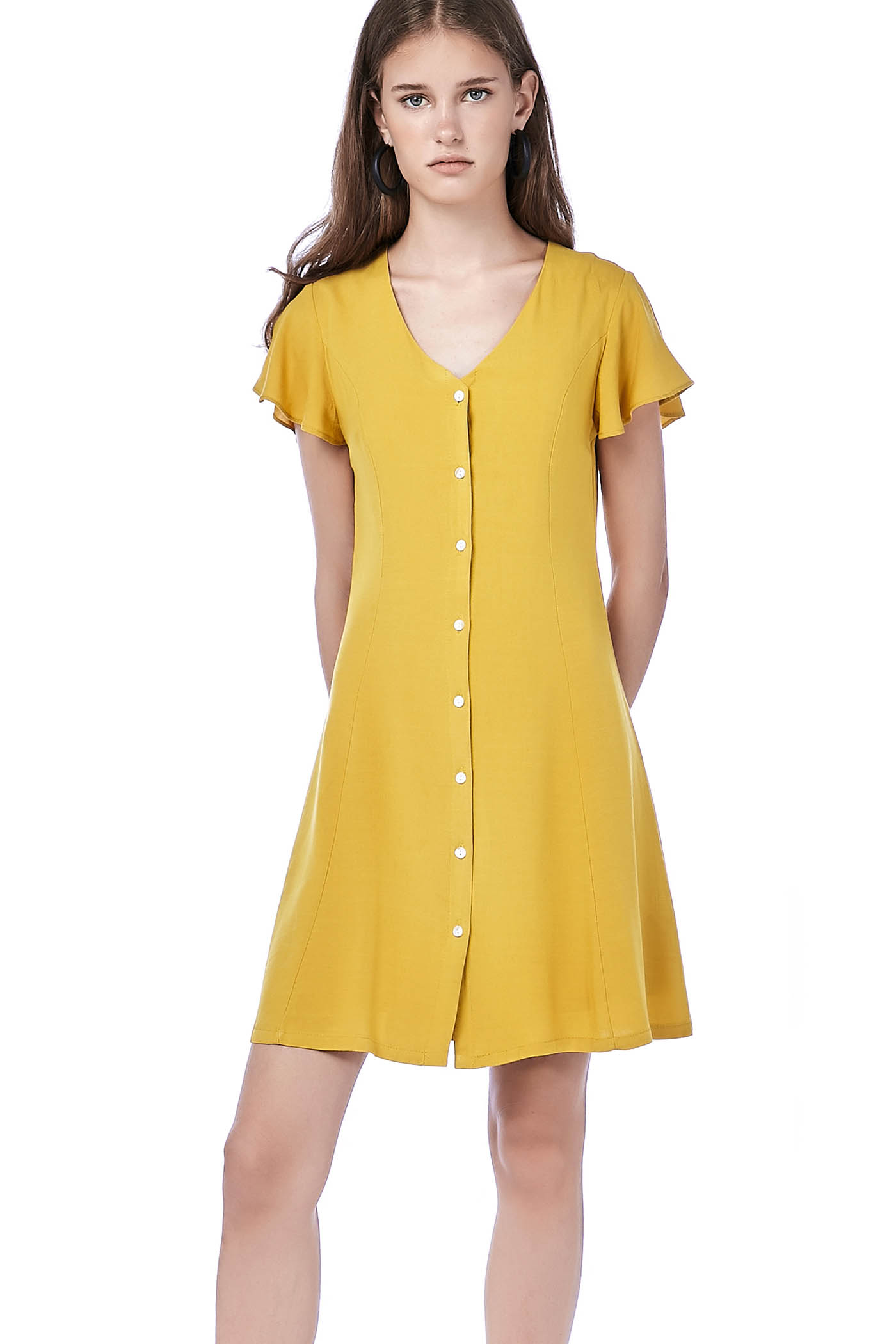 Lolida Ruffle-Sleeve Dress