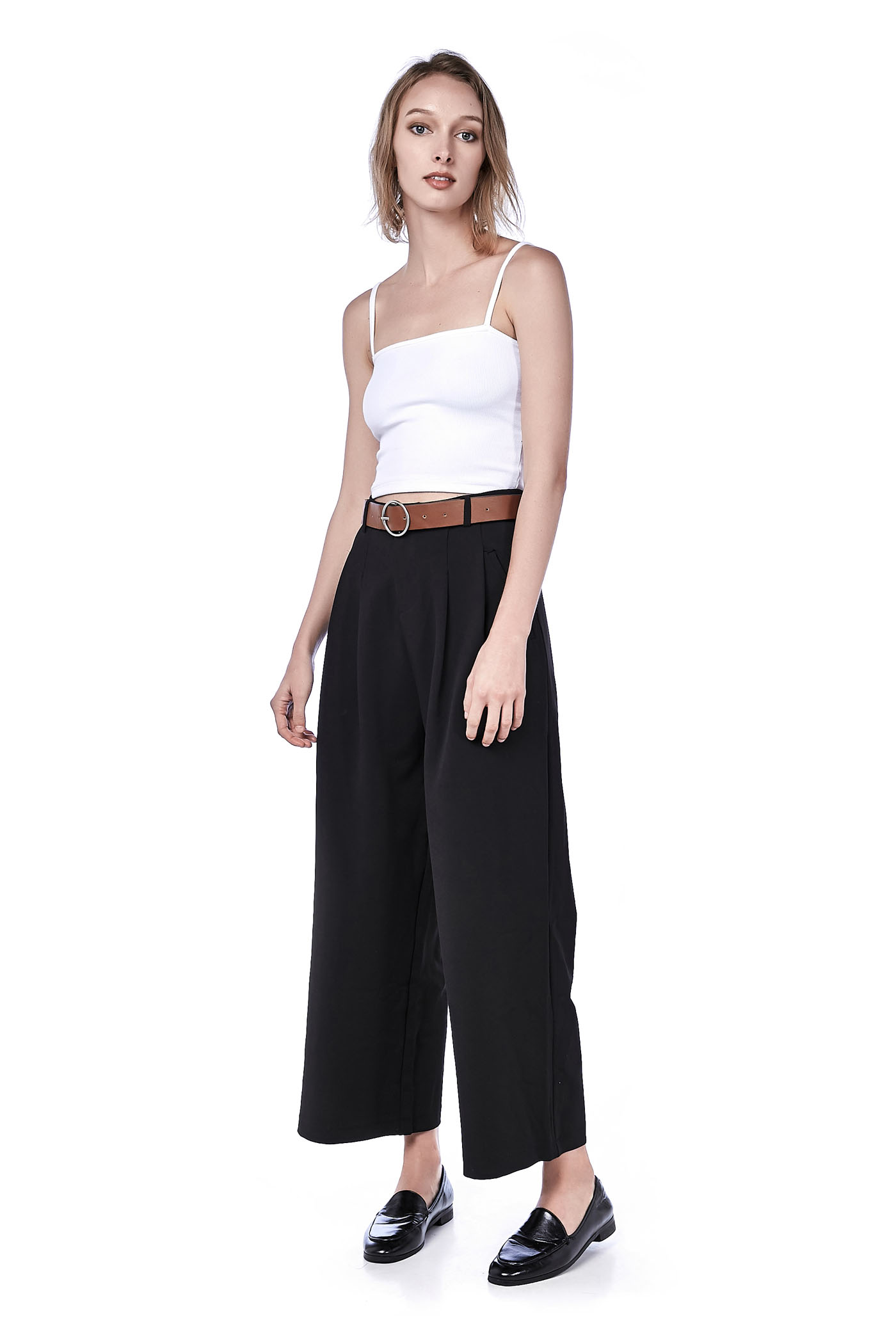 Reanne Belted Wide-Leg Pants