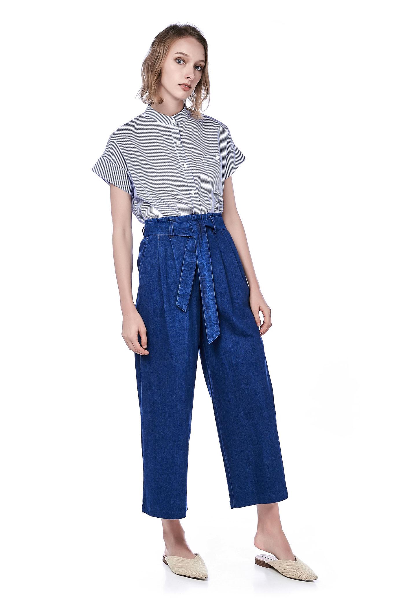 Oralia Wide-leg Denim Pants