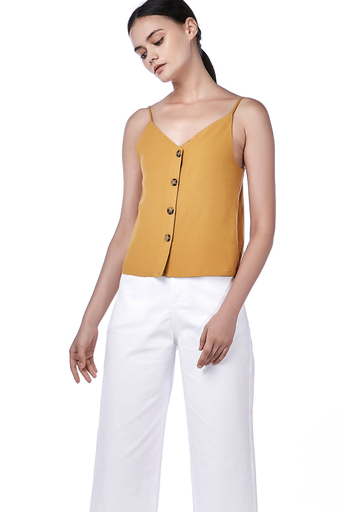 Vilma Button-Down Crop Top
