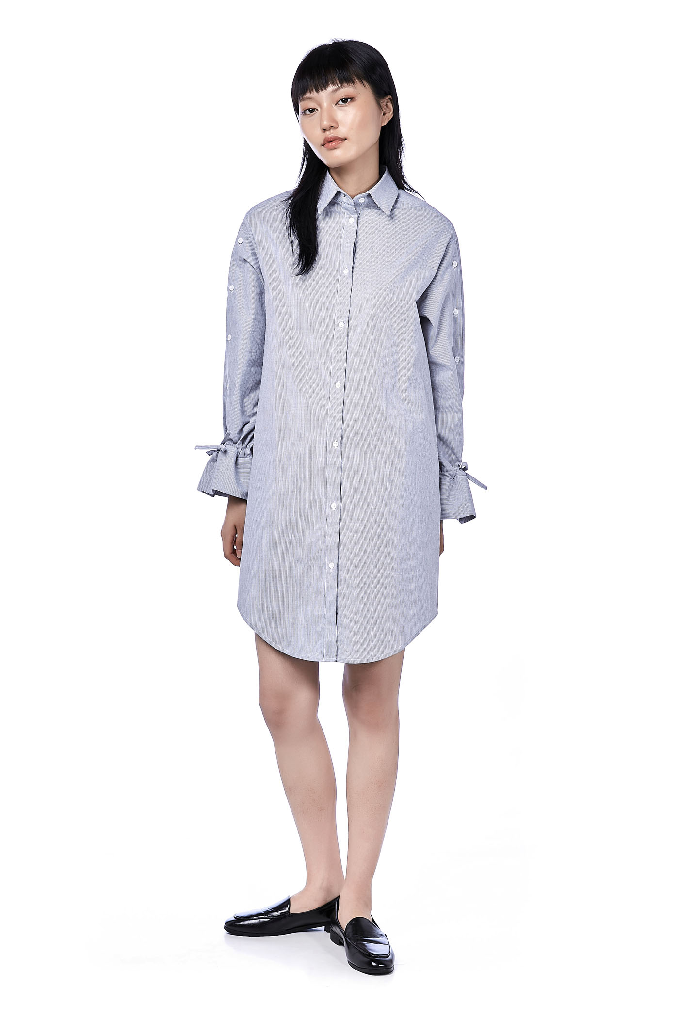 Qasha Button-Down Shirtdress