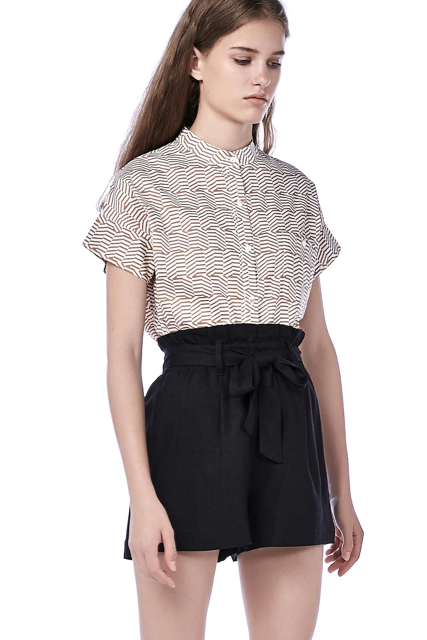 Gaea Stand Collar Shirt