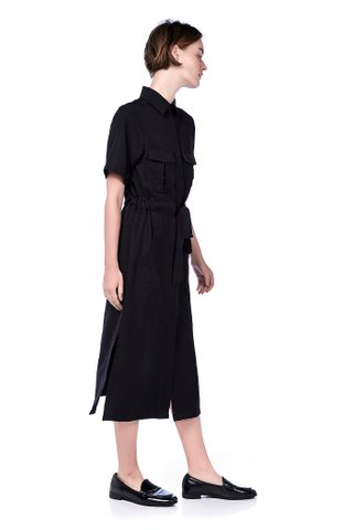 Damian Drawstring Shirtdress