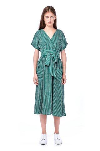 Adara Cross-Front Midi Dress