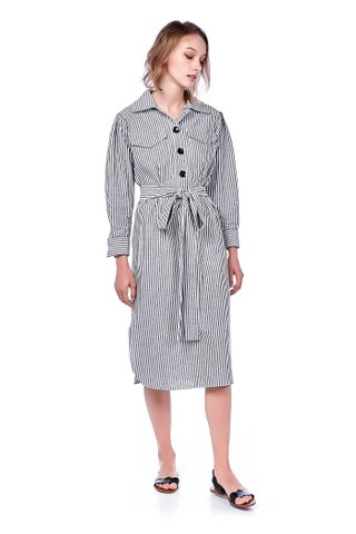 Ritza Stripe Shirtdress