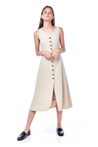 Beulla Button-through Maxi Dress