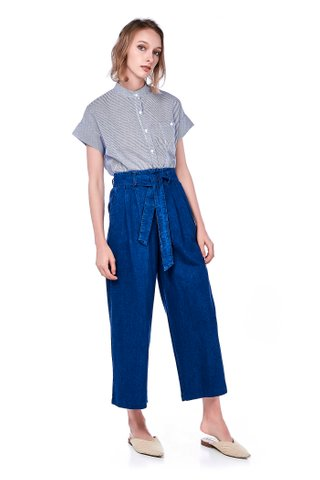 Oralia Wide-leg Denim Pants