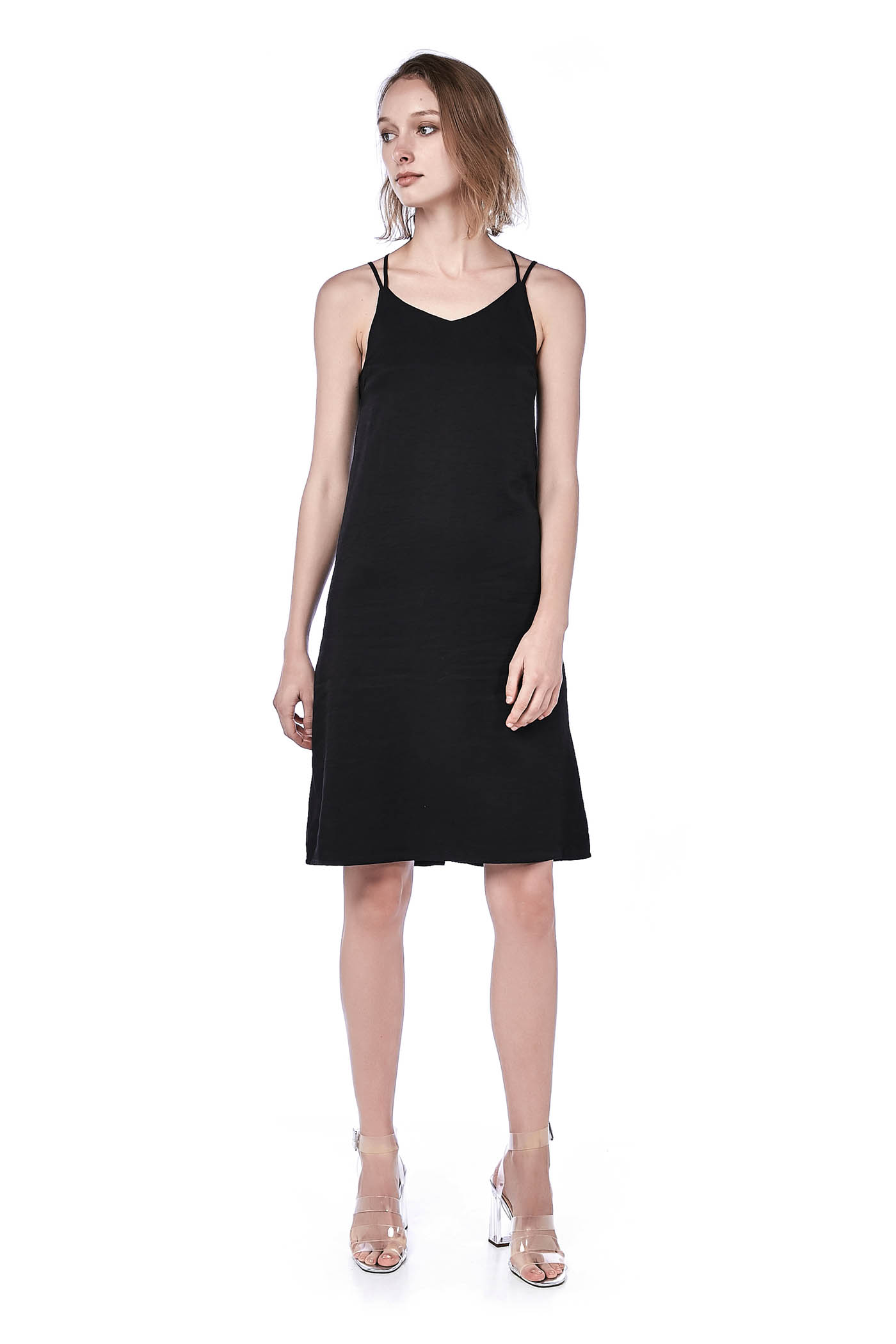 Rusila Cross-Strap Midi Dress