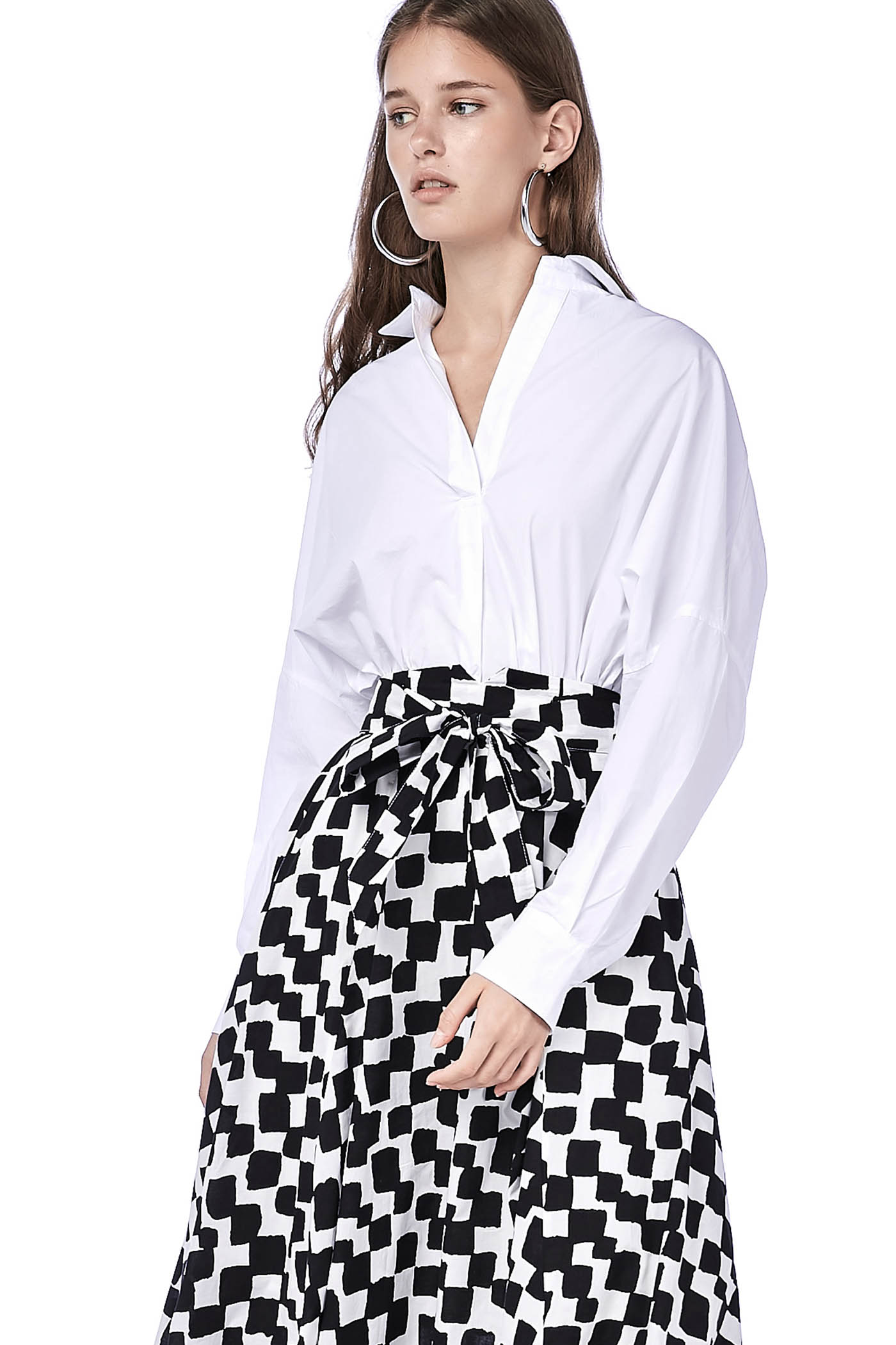 Shalin Back Button-Down Blouse
