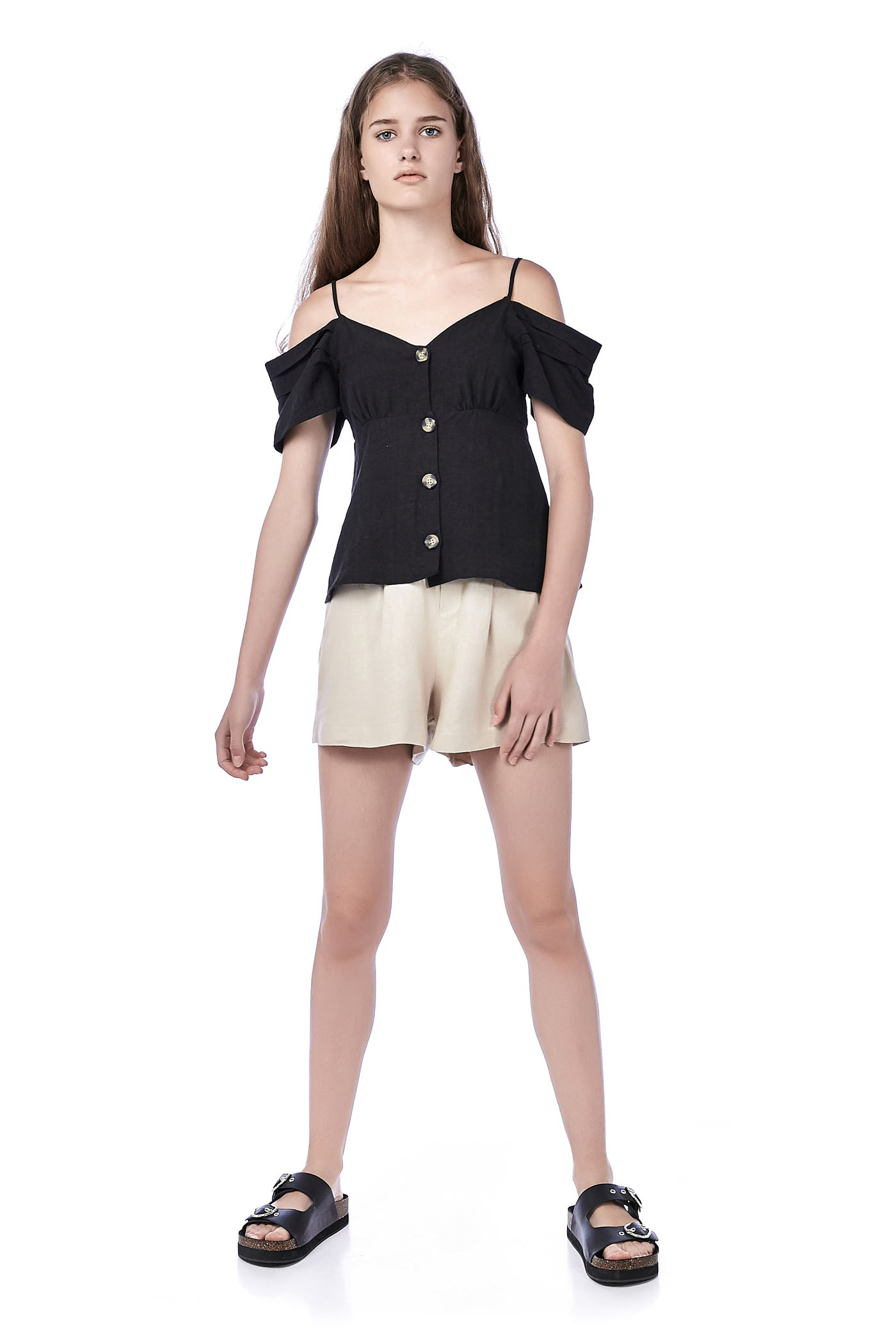 Fatin Linen Paperbag Shorts