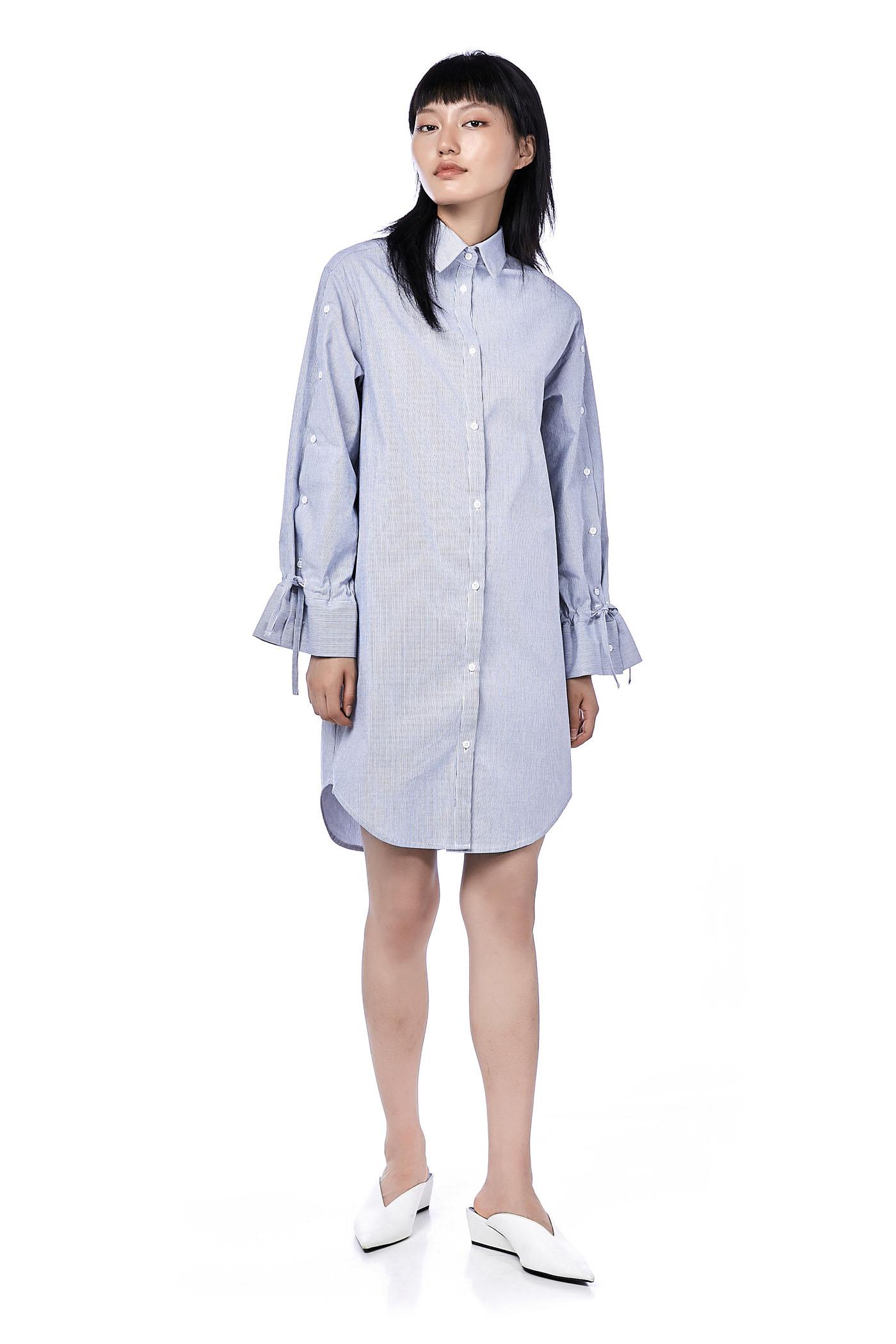 Qasha Button-Down Shirtdress