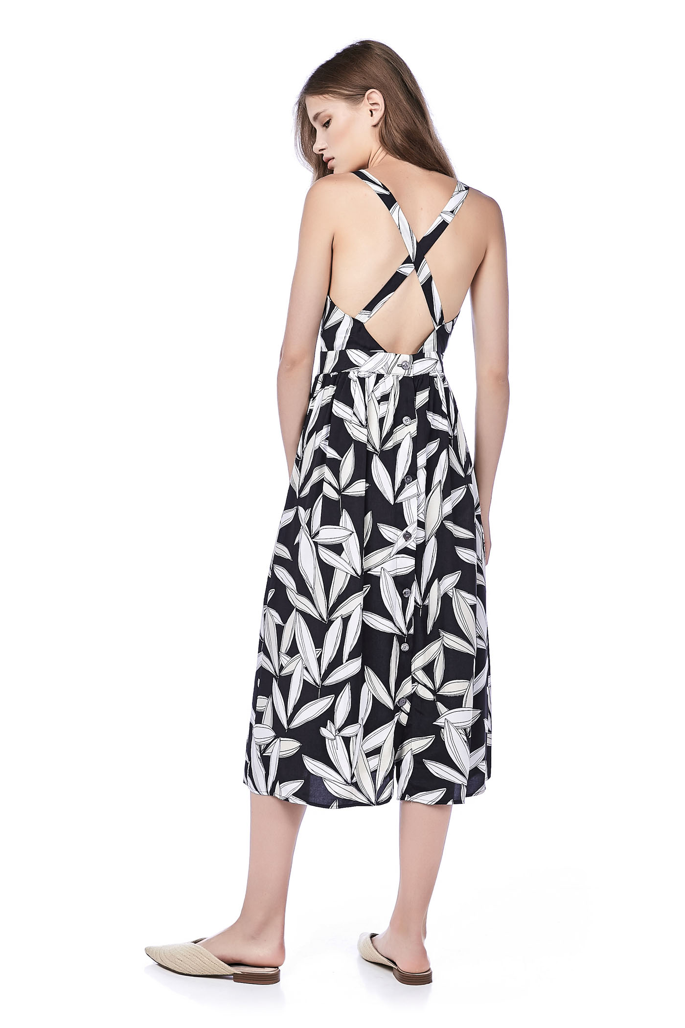 Ritchell Cross-Back Midi Dress