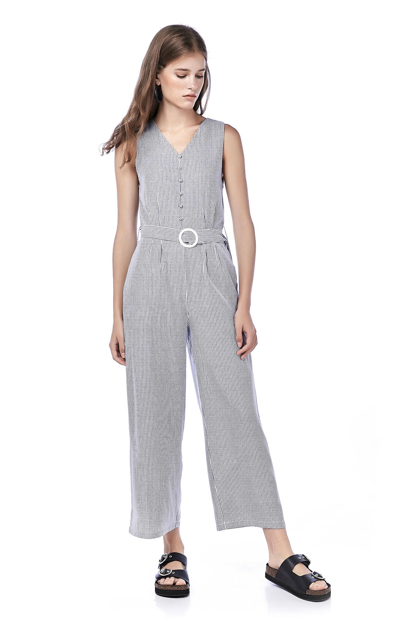Janett Stripe Jumpsuit