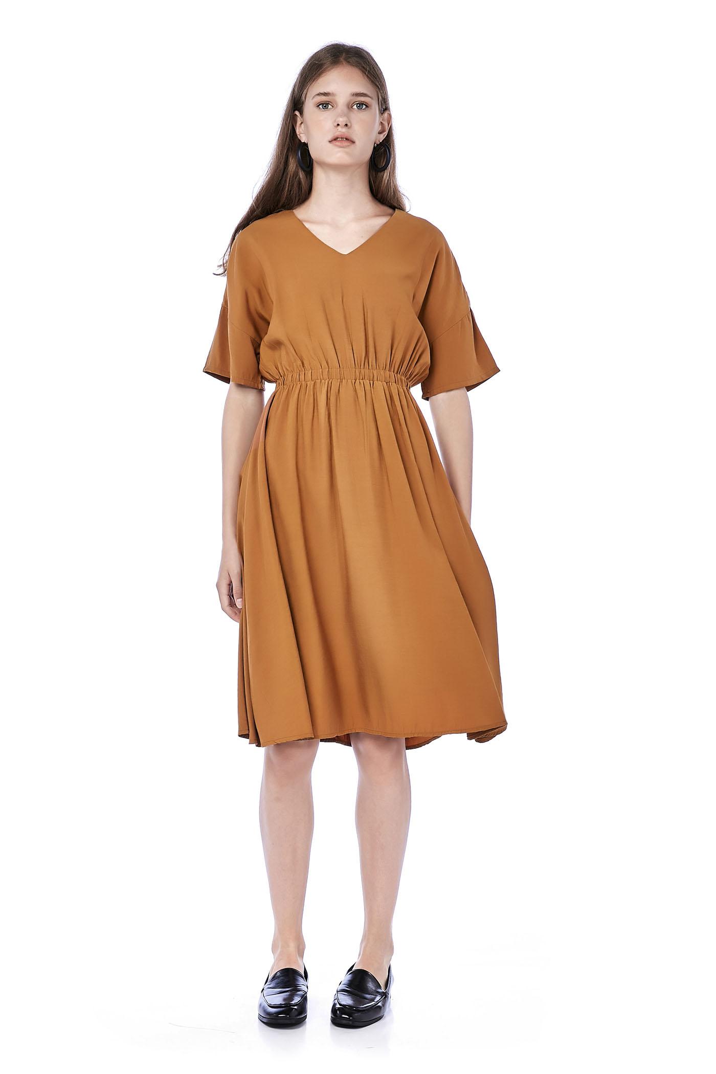 Monica Gathered-Waist Dress