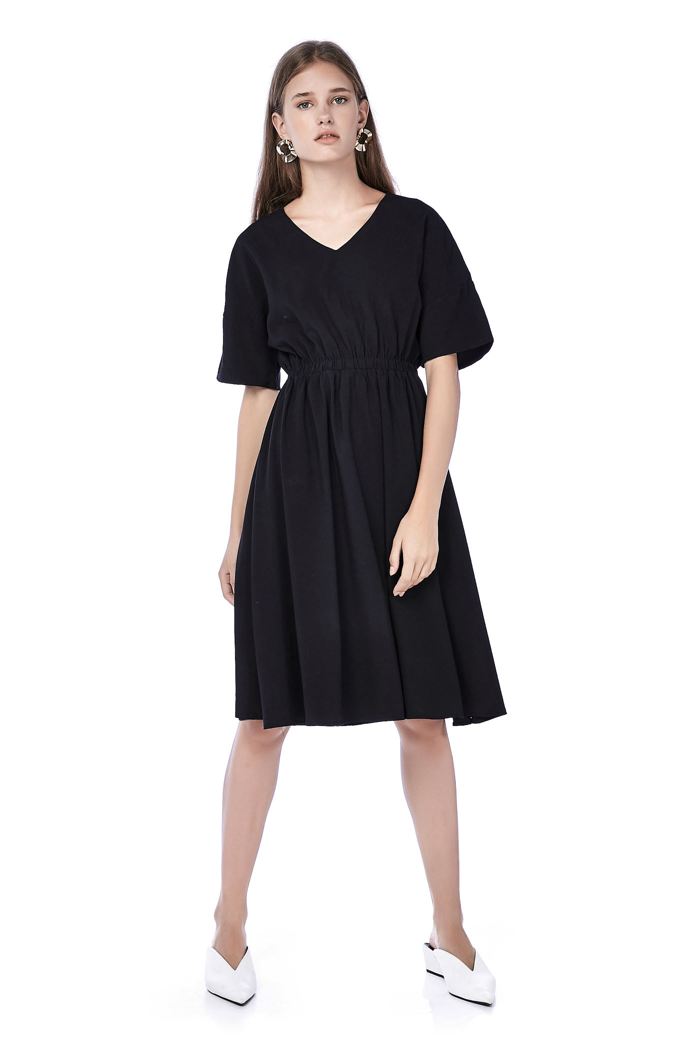 Monica Gathered-Waist Dress