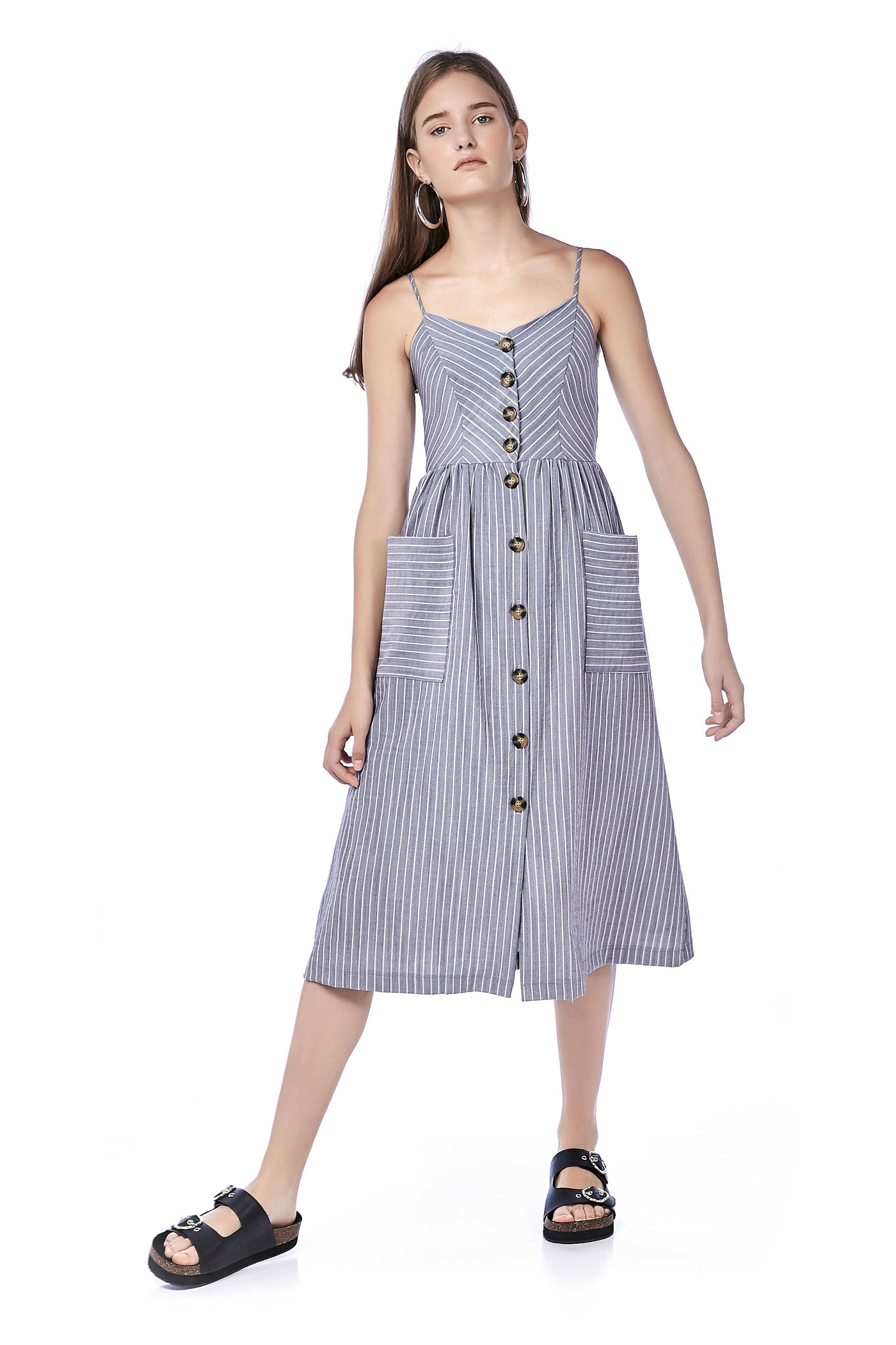 Alise Button-Through Midi Dress