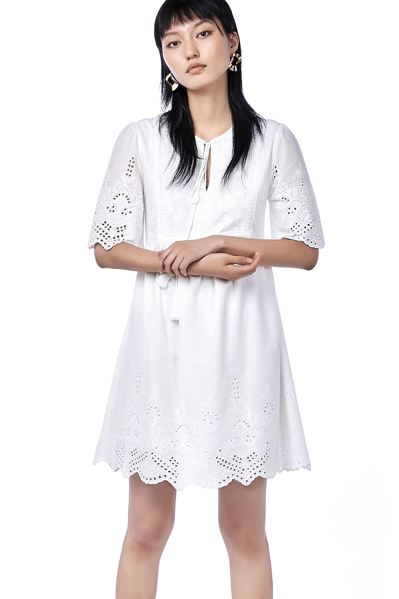 Dione Broderie Dress