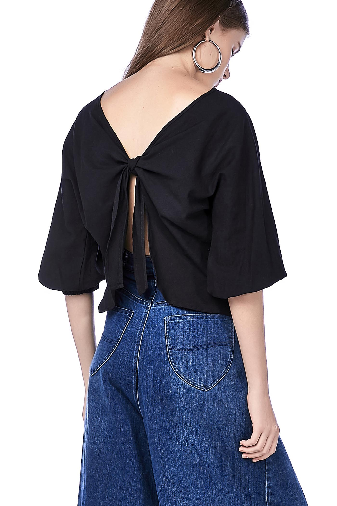 Elxie Back-Tie Top