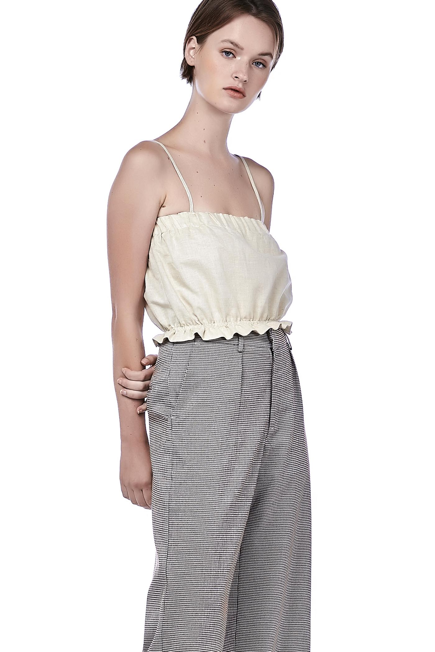 Jaylin Linen Crop Top
