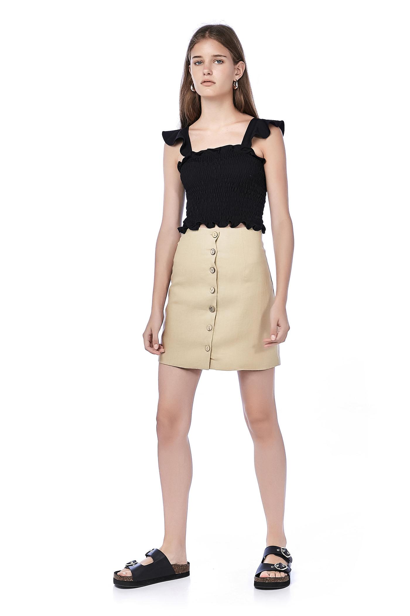 Loa Button-Through Skirt