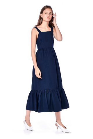 Zaria Back-Tie Maxi Dress