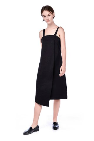 Morissa Overlap Midi Dress