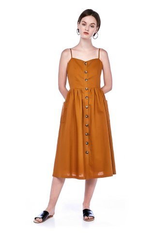 Valda Button-Down Dress