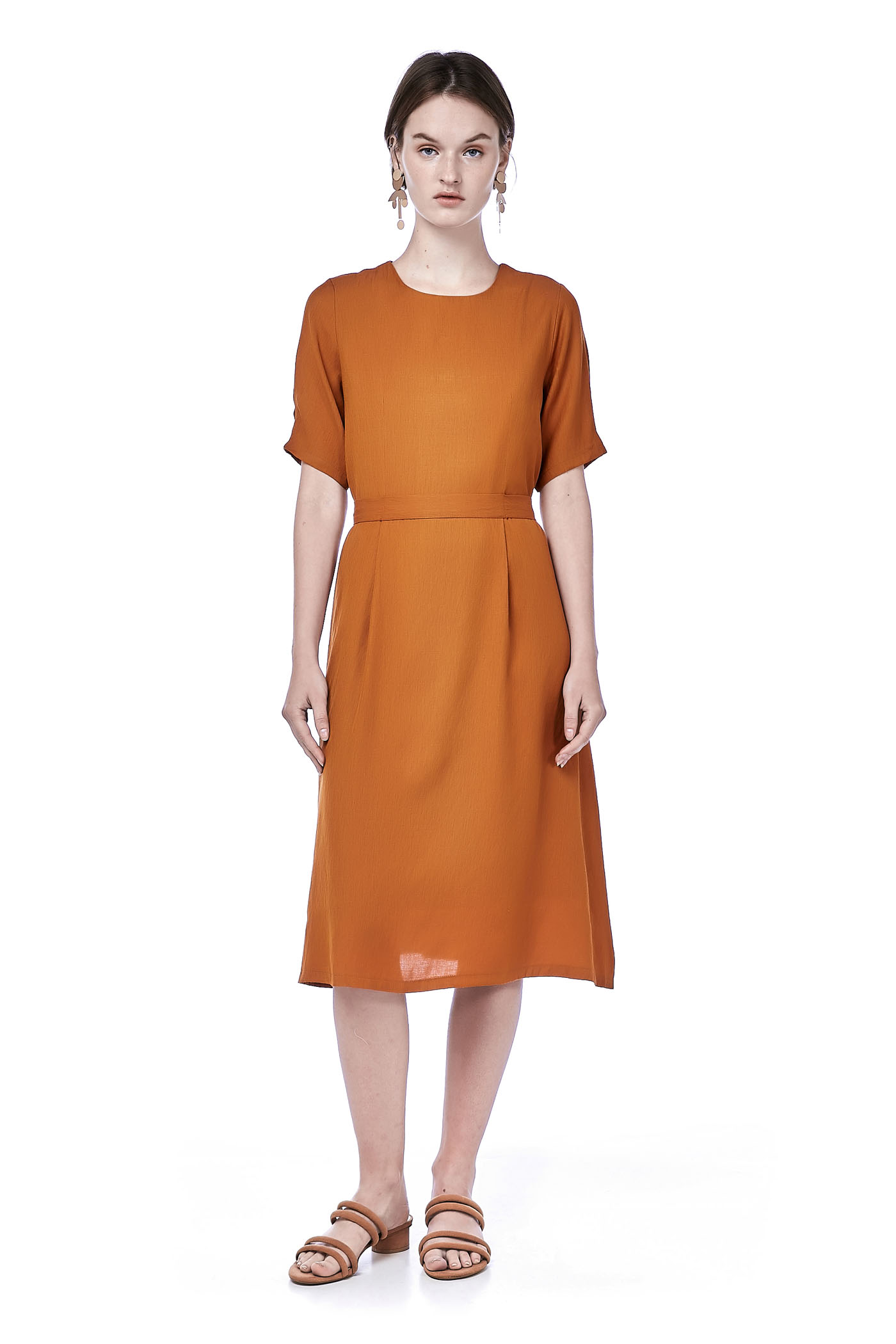 Caira Pleated Shift Dress
