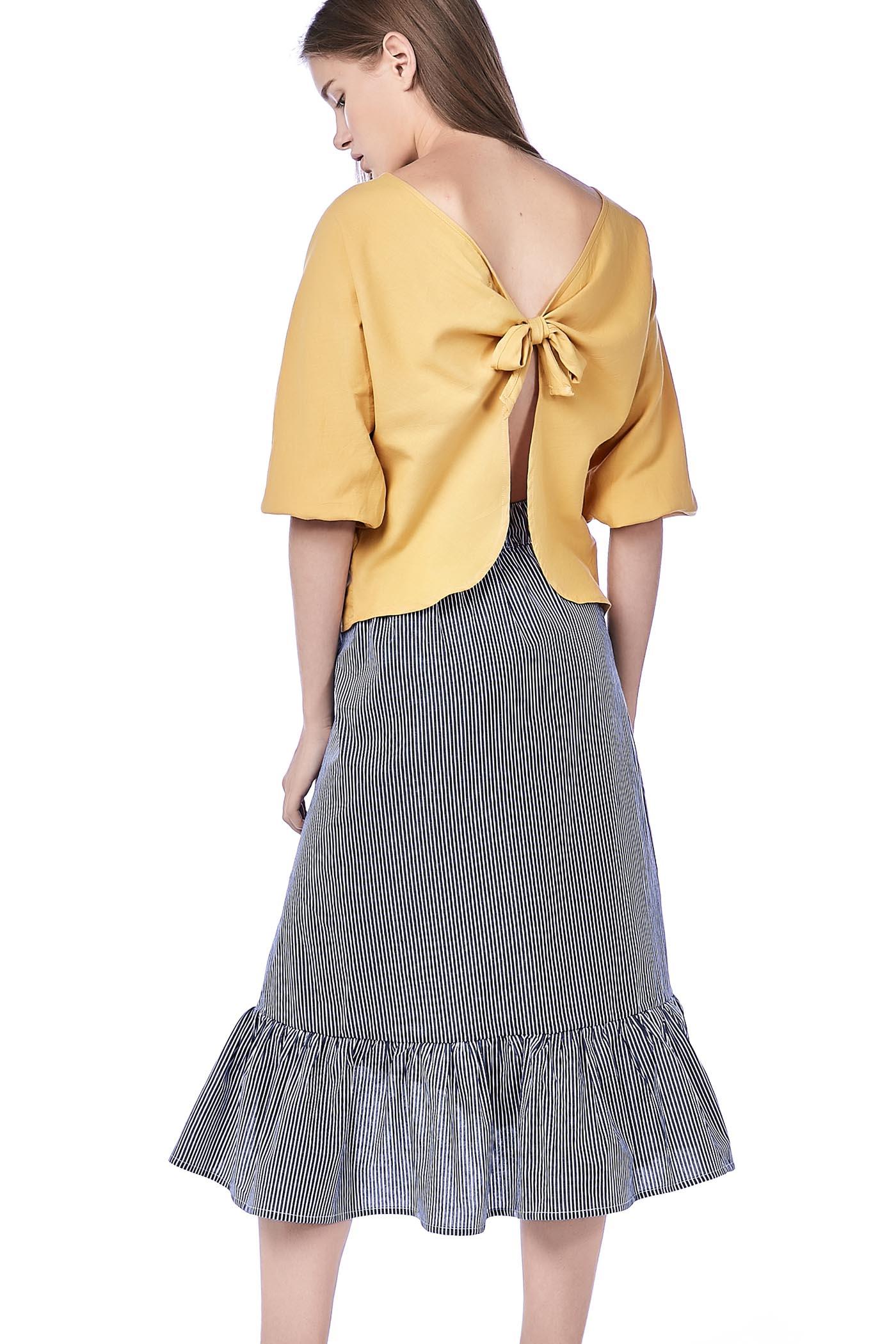 Elxie Back-Tie Top