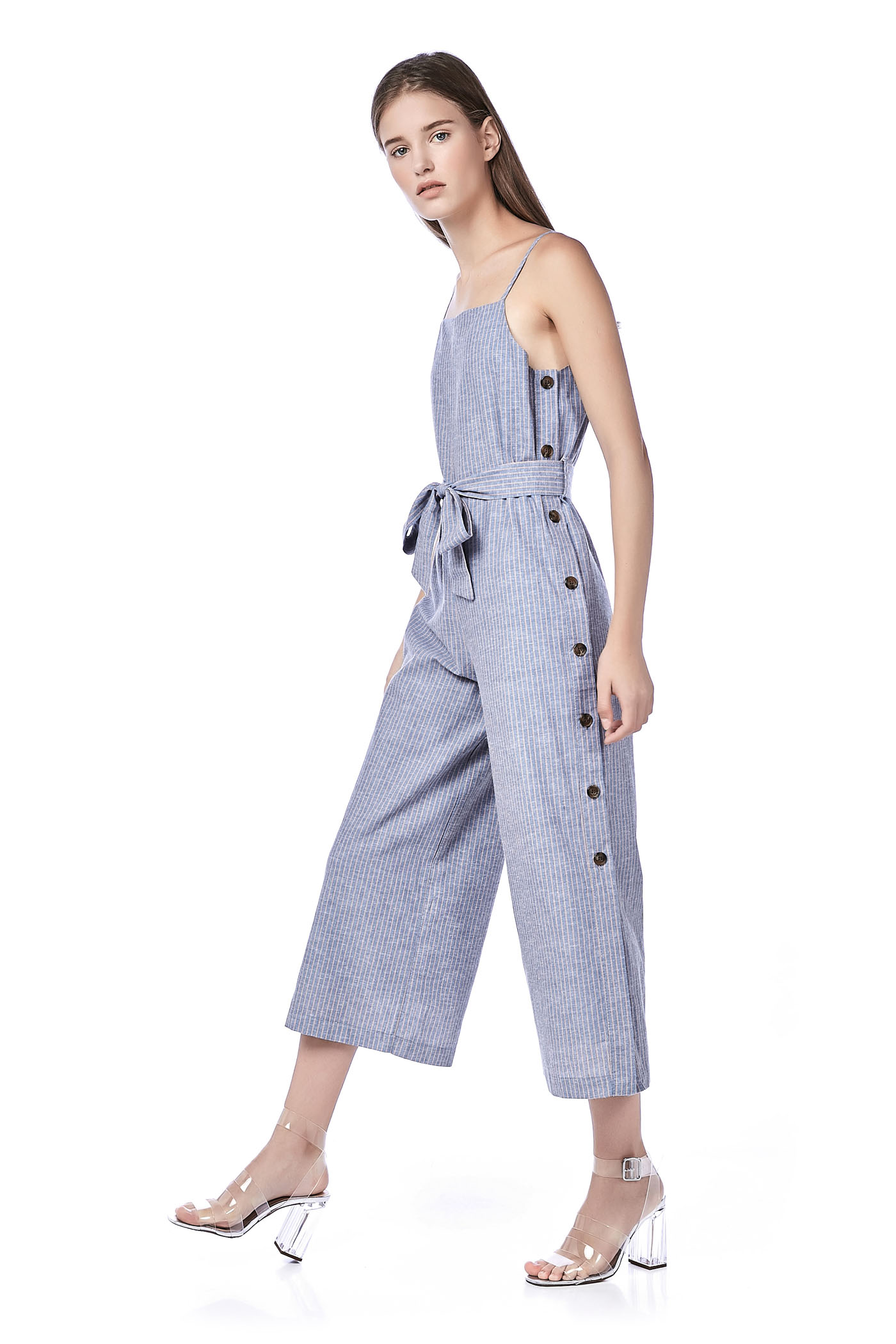 Eleena Side-Button Jumpsuit
