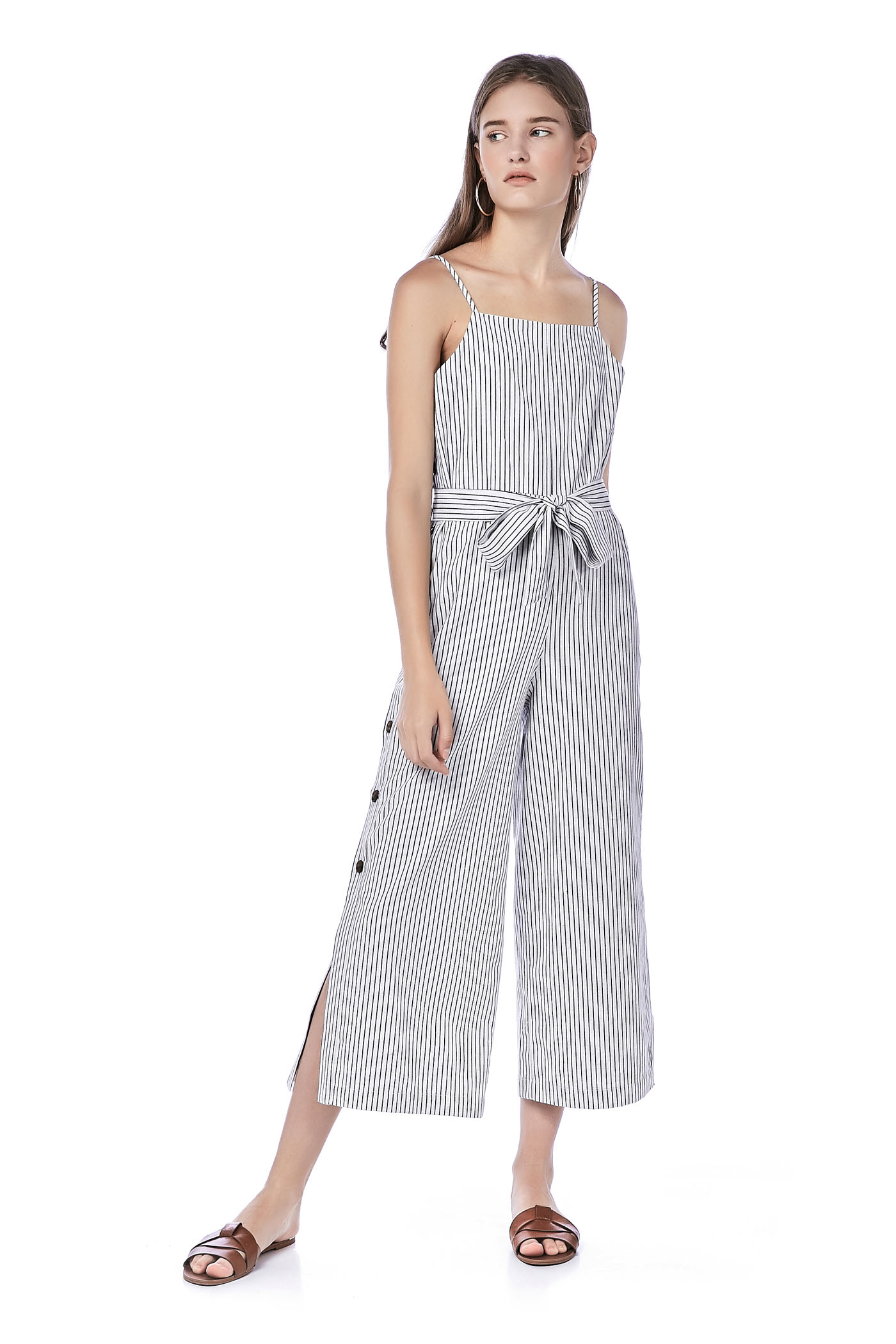 Eleena Side-Button Jumpsuit