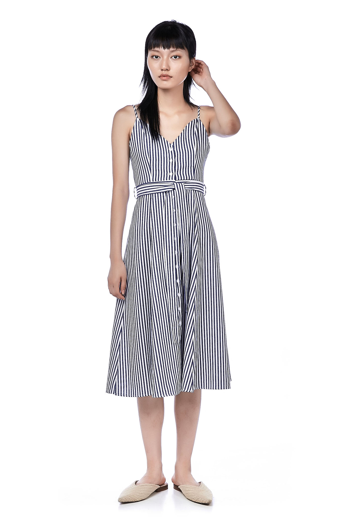 Delfino Stripe Midi Dress
