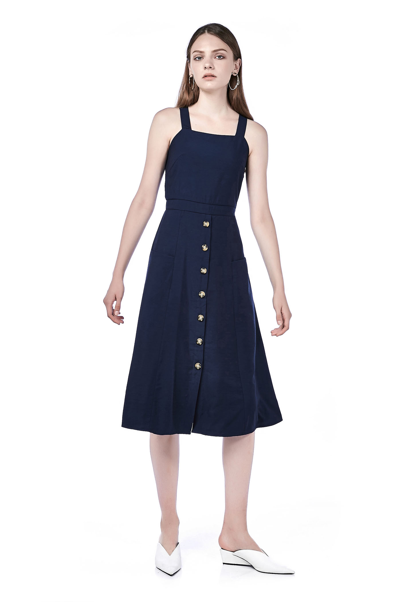 Cynta Button-Down Midi Dress