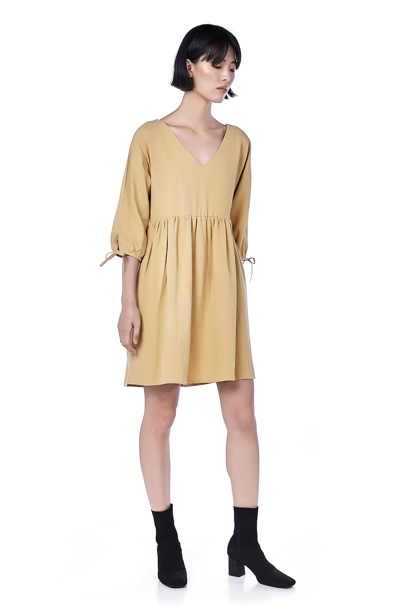 Monique Tie-Sleeve Dress