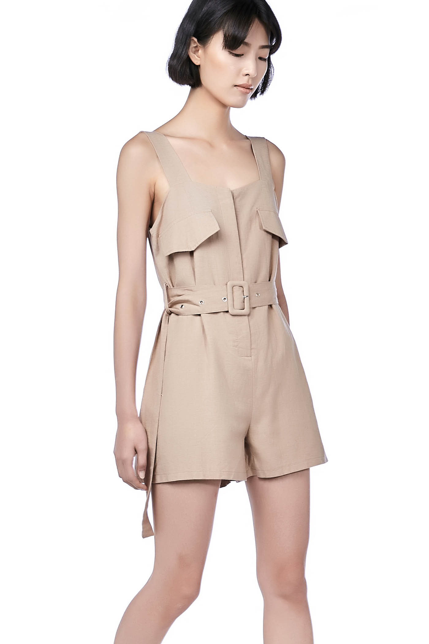 Elly Utility Belted Romper