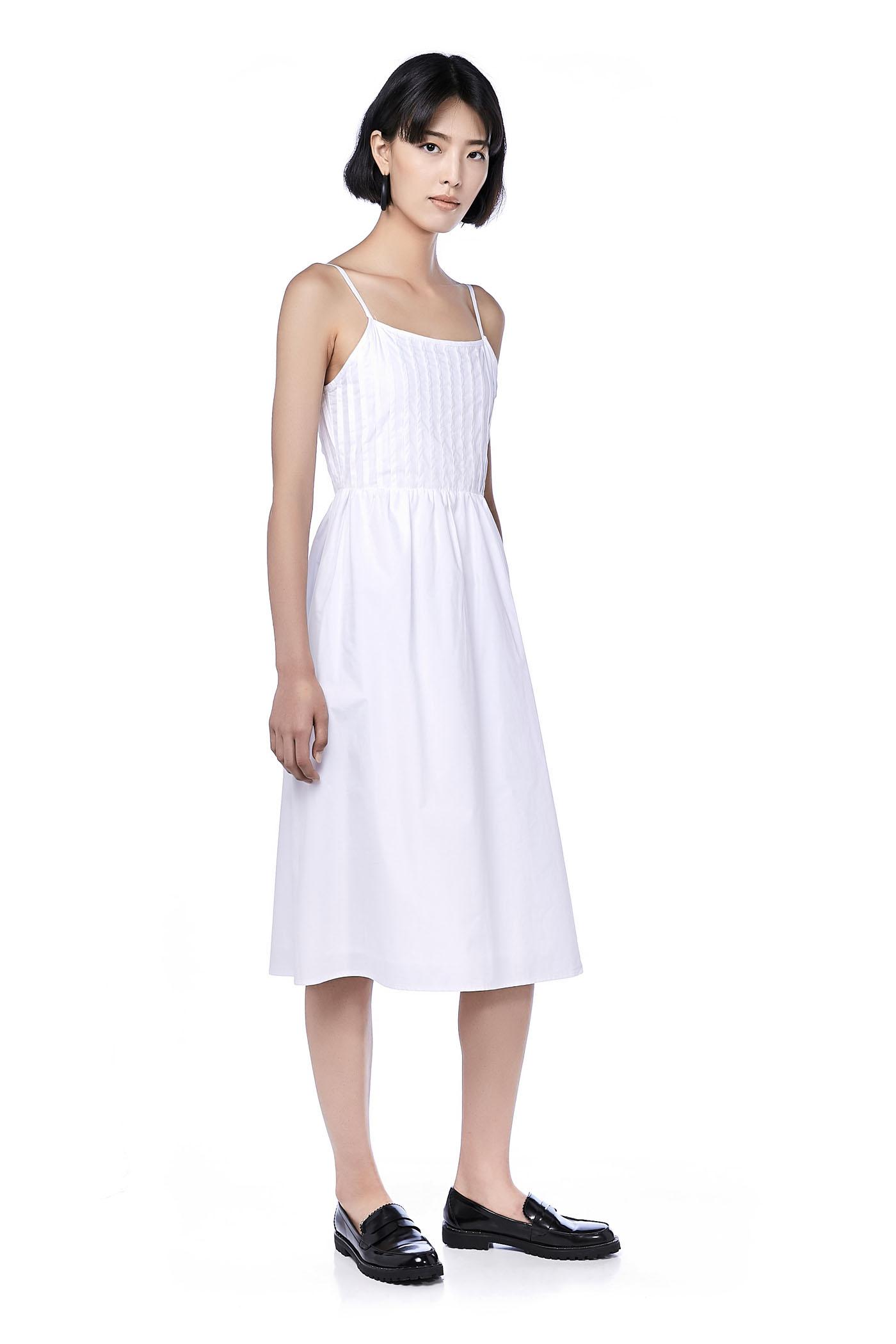 Una Pintuck Midi Dress