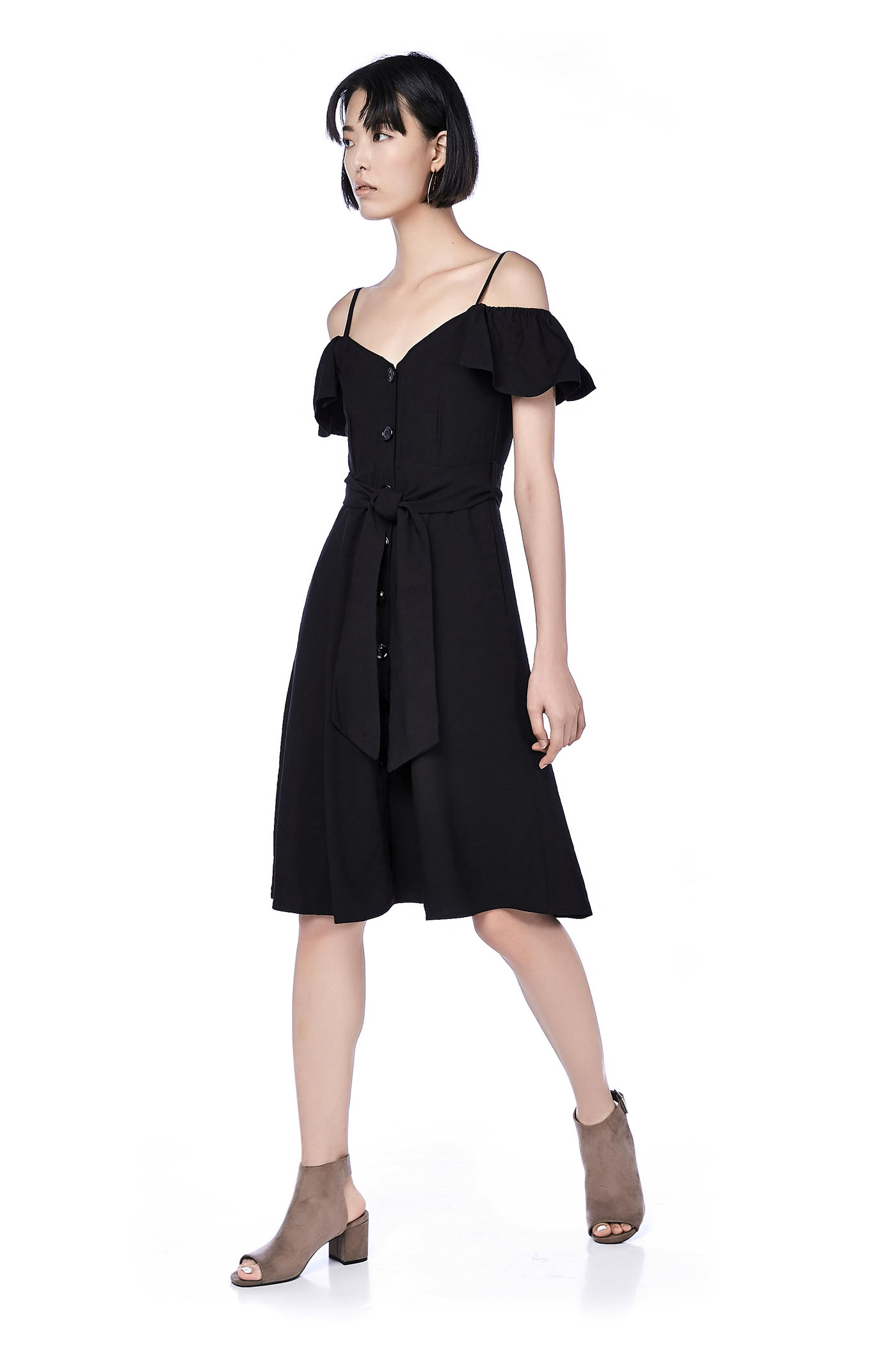 Lynne Cold-Shoulder Dress
