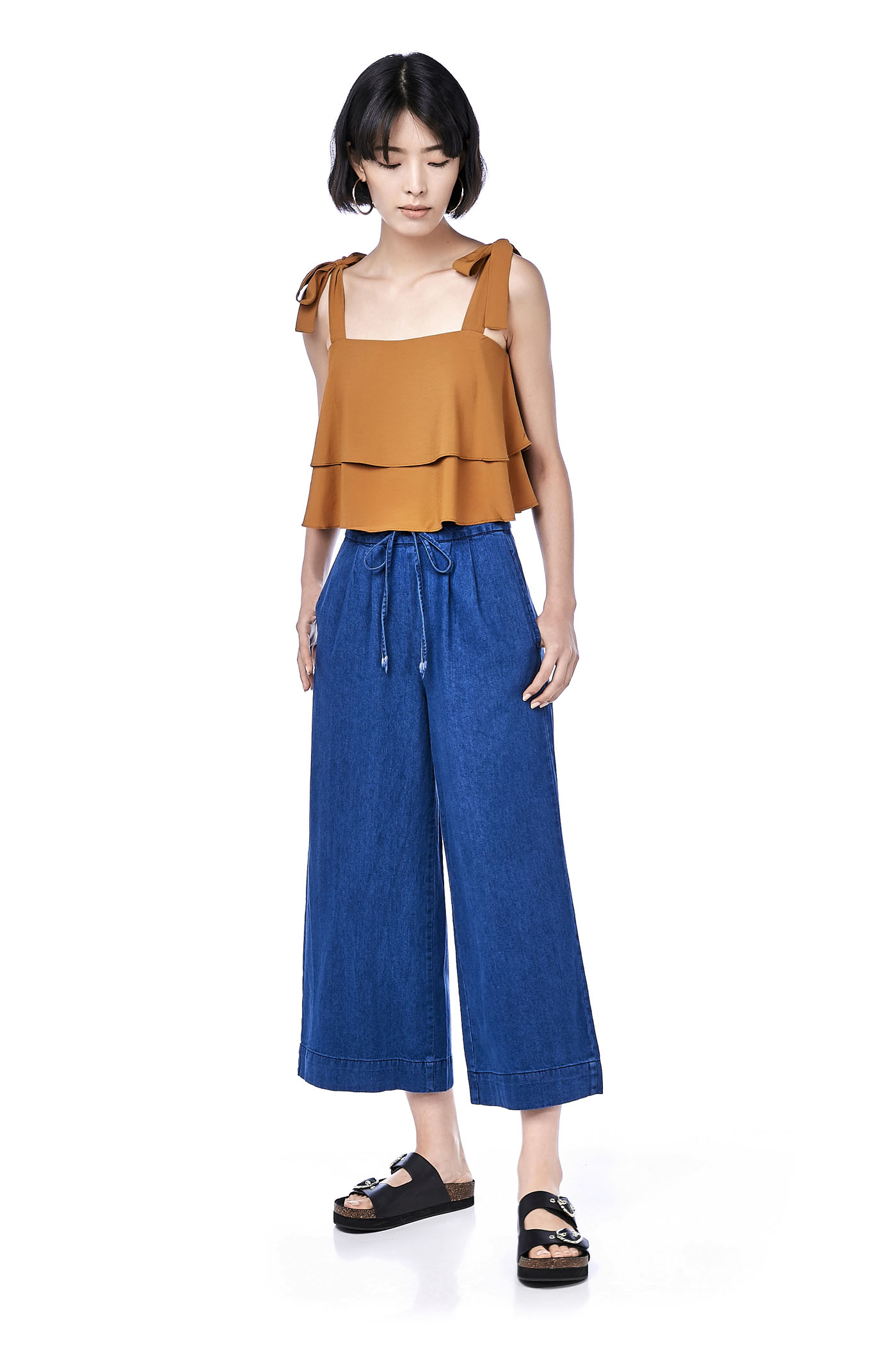 Venice Wide-Leg Denim Pants