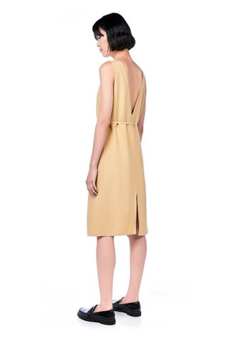 Cira Plunge-Back Shift Dress