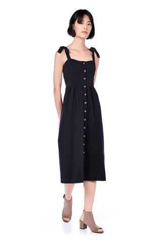 Oliya Button-Through Midi Dress