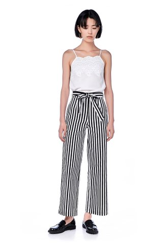 Beilina Belted Stripe Pants