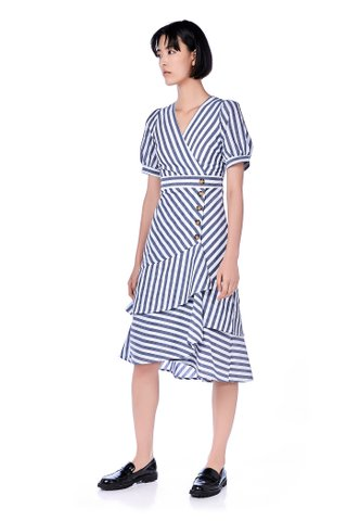 Erleena Tiered-hem Maxi Dress