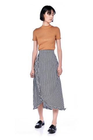 Holden Ruffle-Hem Midi Skirt