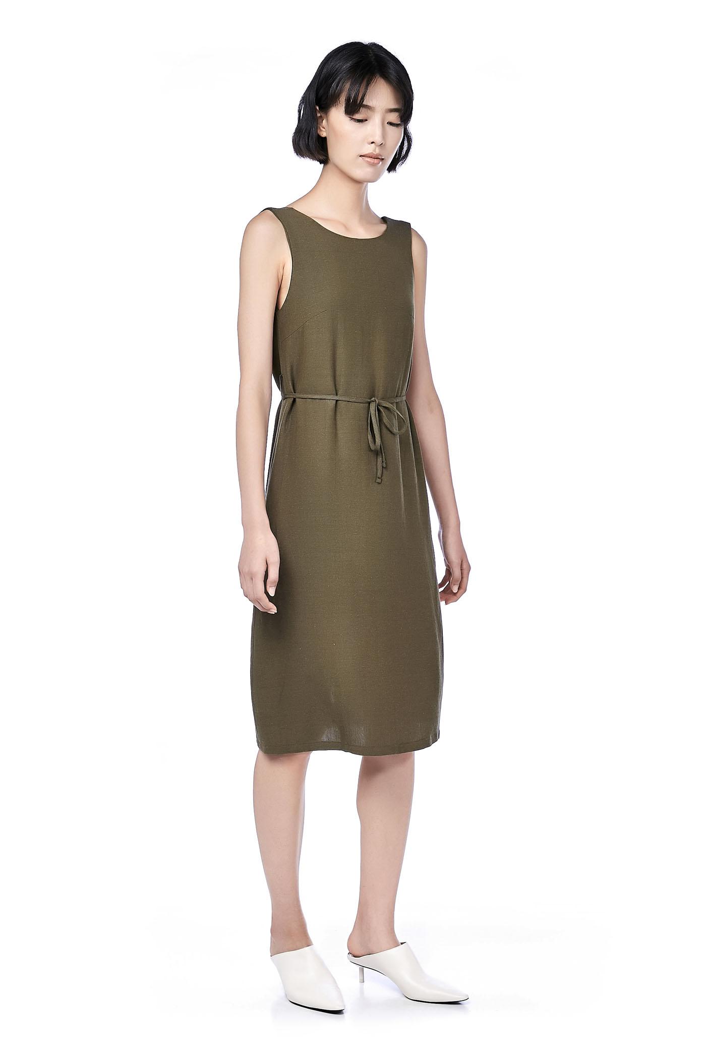 Cira Plunge-Back Shift Dress