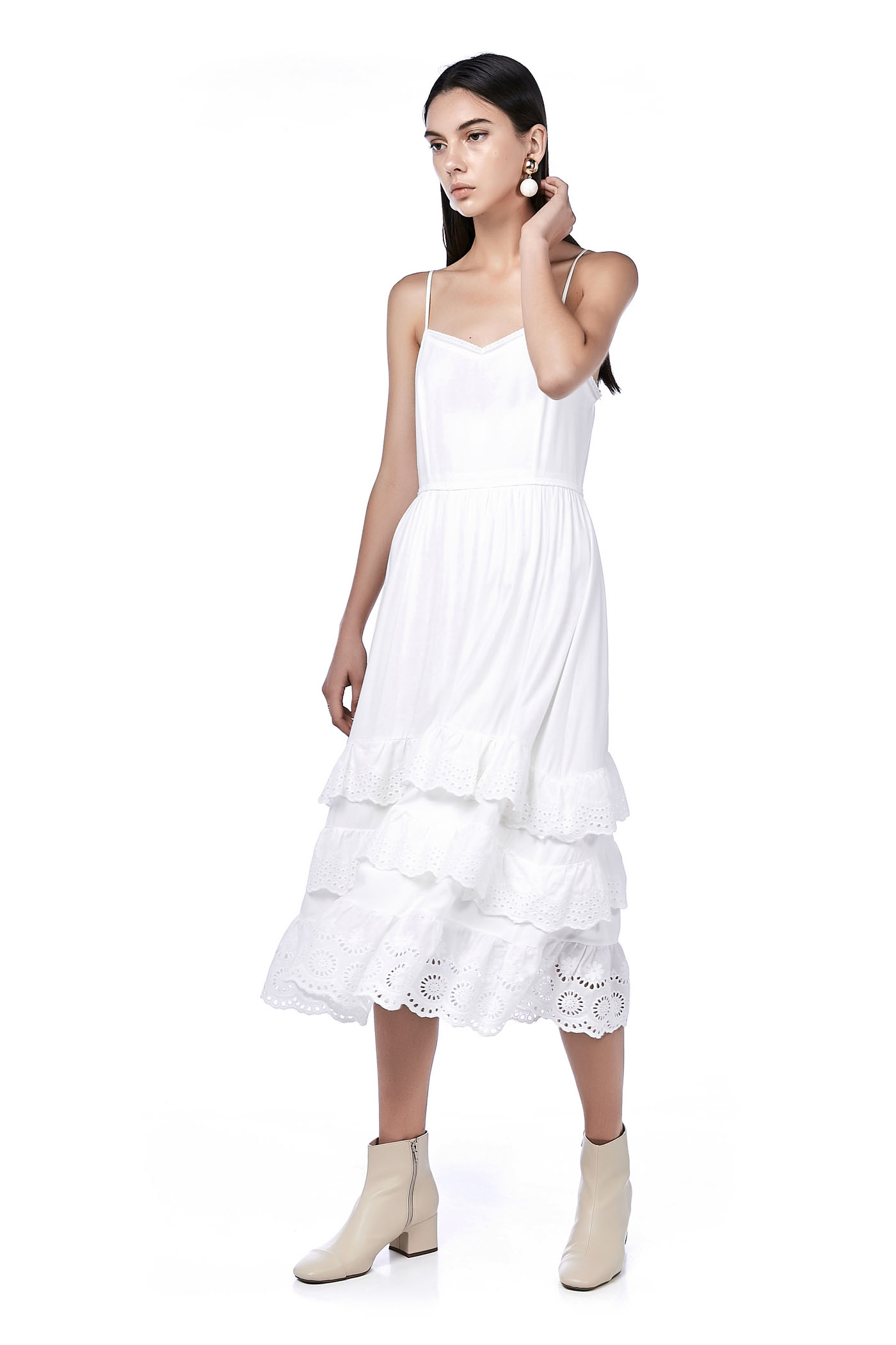 Brera Ruffle-Hem Maxi Dress